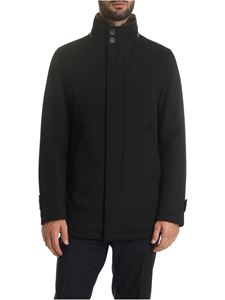 Herno - Black coat with beaver collar