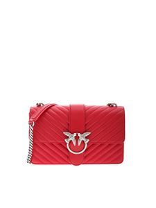 Pinko - Love Mix shoulder bag in red