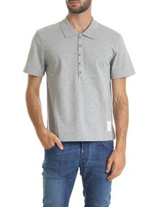 Thom Browne - Gray melange polo