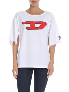Diesel - Jacky white T-shirt with logo patch