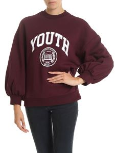 MSGM - Sweatshirt with Youth print in wine color