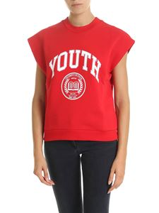MSGM - Red t-shirt with Youth print