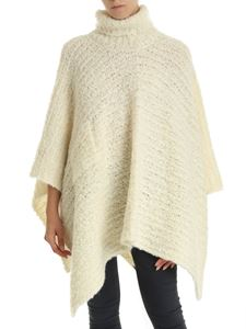 Jacquemus - Wool and mohair cape in creamy white