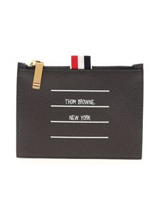 Thom Browne - Coin purse in black leather