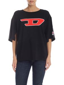 Diesel - Jacky black T-shirt with logo patch