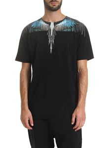 Marcelo Burlon - Turquoise Wings T-shirt in black
