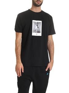 Marcelo Burlon - Rose Square T-shirt in black
