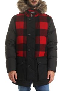 Woolrich - Parka Buffalo Wool in black and red