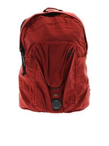 CP Company - Burgundy vintage-effect backpack