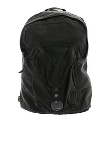 CP Company - Black vintage effect backpack