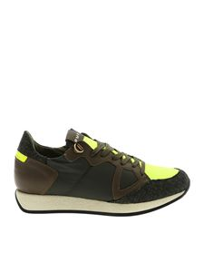 Philippe Model - Monaco sneakers in green and yellow fluo