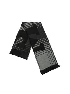 Missoni - Scarf with black and grey geometric pattern