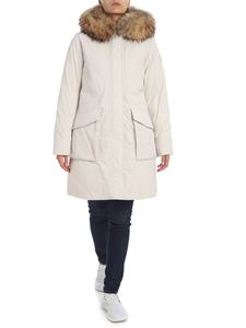 Woolrich - York parka in ivory color