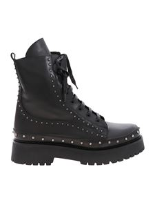 Pinko - Cingoli ankle boot with studs in black