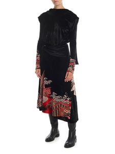 Paco Rabanne - Midi dress in black jacquard velvet