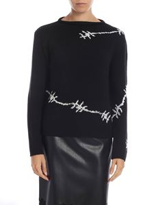 Ermanno Scervino - Black pullover with rhinestones