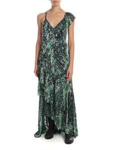 Alice + Olivia - Green dress with reptile print