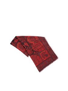 Etro - Printed red scarf