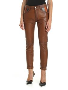 Golden Goose Deluxe Brand - Jolly trousers in leather color