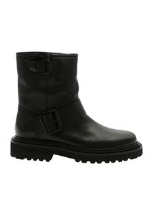 Vic Matiè - Black ankle boots with side straps