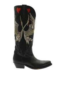 Golden Goose - Wish Star texan boots in black