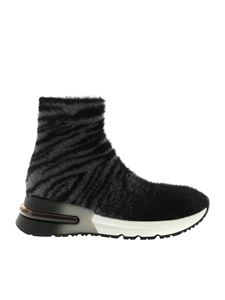 Ash - King black sneakers in eco-fur