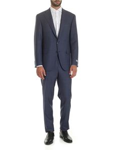 Canali - Wool suit in shades of blue