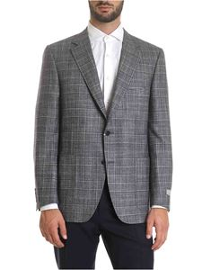 Canali - Blue prince of Wales jacket