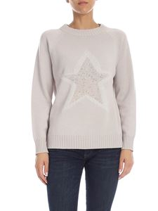 Lorena Antoniazzi - Grey pullover with micro sequins detail