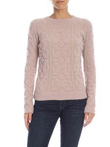 Blumarine - Nude pullover with embossed pattern