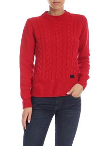 be Blumarine - Red pullover with logo detail