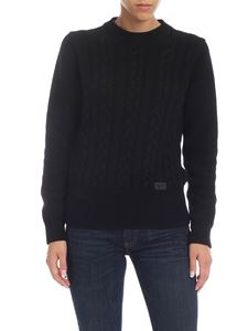 be Blumarine - Black pullover with logo detail