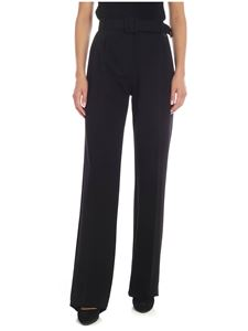 be Blumarine - Black palazzo trousers with belt