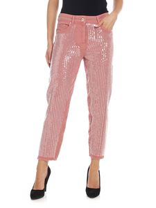 Blumarine - Antique pink jeans with sequins