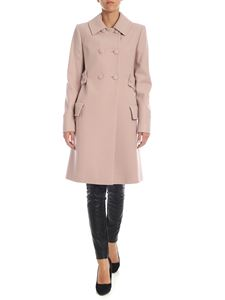 Blumarine - Pink double-breasted coat