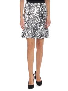 be Blumarine - Silver color sequined miniskirt