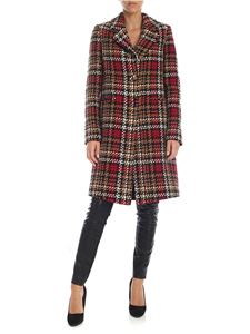 be Blumarine - Dark beige prince of Wales pattern coat