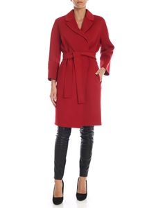 S Max Mara - Arona coat in red