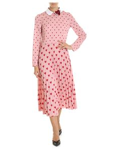 Red Valentino - Pink dress with hearts print