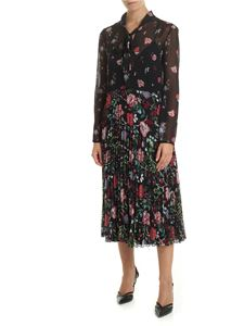 Red Valentino - Black dress with Cherry Blossom print