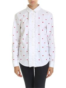Red Valentino - White shirt with embroidered hearts