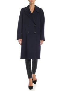 S Max Mara - Aronaci double-breasted coat in dark blue