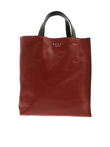 Marni - Museo handbag in red and light blue