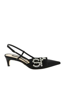 Sergio Rossi - Sr1 Icona pointed slingback in black