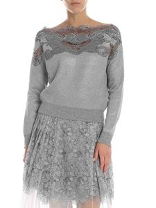 Ermanno Scervino - Sweater in virgin wool and gray lamè