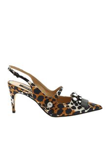 Sergio Rossi - Sr1 pointed slingback in animal printed