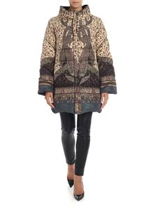 Etro - Quilted down jacket with floral pattern