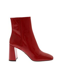 Prada - Ankle boots in patent red leather