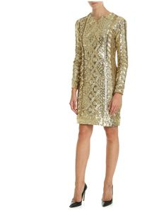 Max Mara - Nicia dress in golden sequins