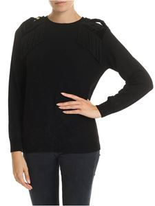 Alberta Ferretti - Black pullover with Military details